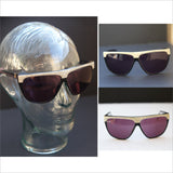 Vintage Sunglasses Rx Glasses by LAURA BIAGIOTTI Designer Avante Garde Edgy Oversized  Brow in Pearlescent Snake Skin Accents