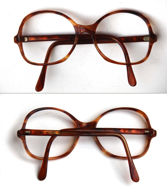 85de529ffa8 ... Vintage Tortoise Shell Mens Womens Eye Glasses Round Striped Marbled  Brown Carmel Prescription Glasses Rx Classic ...