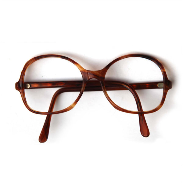 10a7eb8fcaf Vintage Tortoise Shell Mens Womens Eye Glasses Round Striped Marbled Brown  Carmel Prescription Glasses Rx Classic