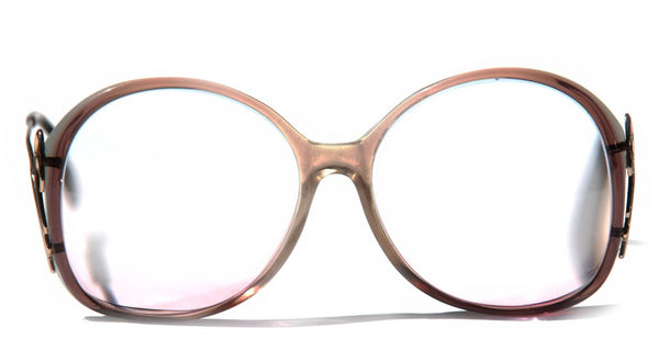 ebfe6945962 ... Vintage womens Eye Glasses Over Sized Round Drop Arm RX Eyeglasses for  Women Veronica Gold Luxottica ...