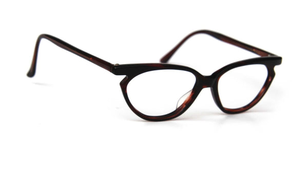 c14f54ffb41 ... Vintage Womens Glasses BROW HORNRIM CATEYE Gabrielle Rx Prescription  Eyewear Dark Brown ...