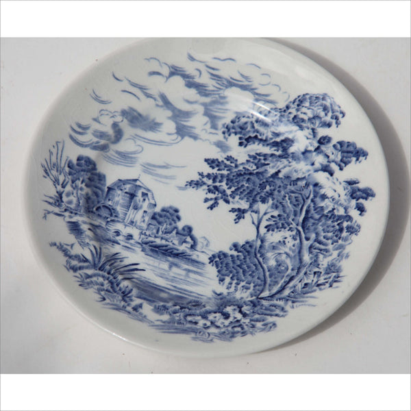 Wedgewood in the Countryside Blue and White Decorative Collectors Porcelain Fine China Plate Made in England Unicorn Logo
