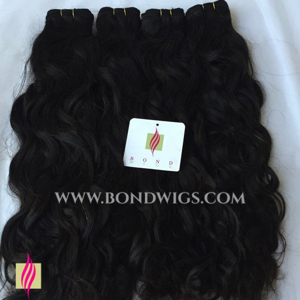 "Weft 18""natural wave. 100g/pc"