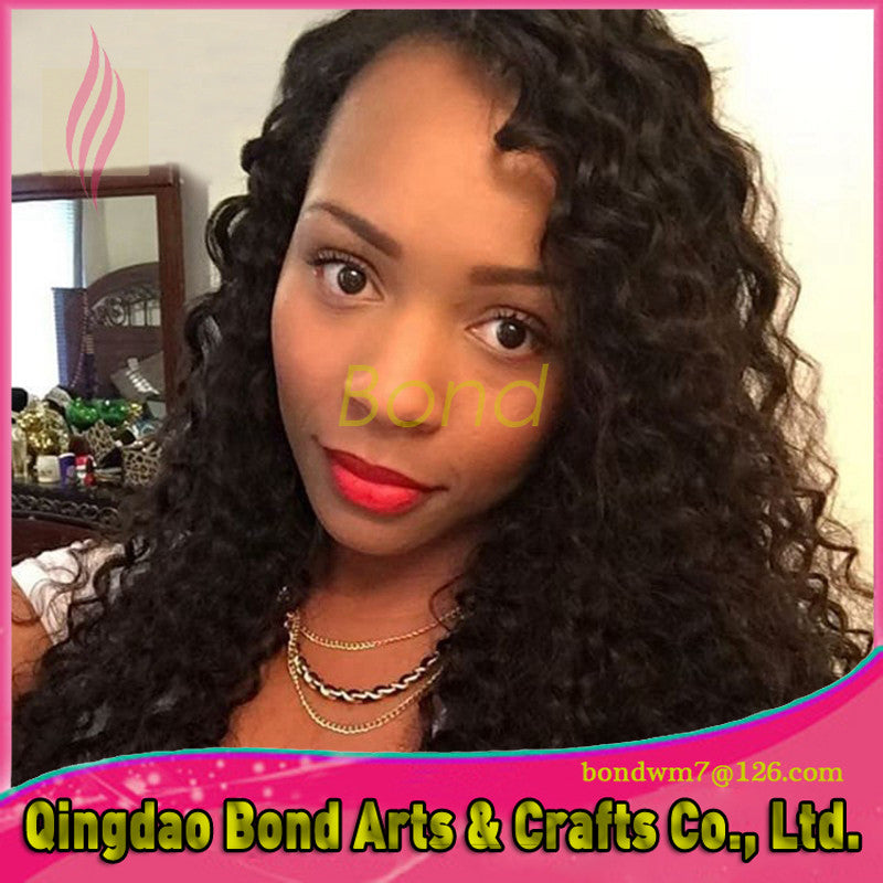Peruvian Hair - Curly Unprocessed Virgin Peruvian Full Lace Wig Black Women Lace Front Wigs Full Lace Human Hair Wigs African American Wig - BONDWIGS
