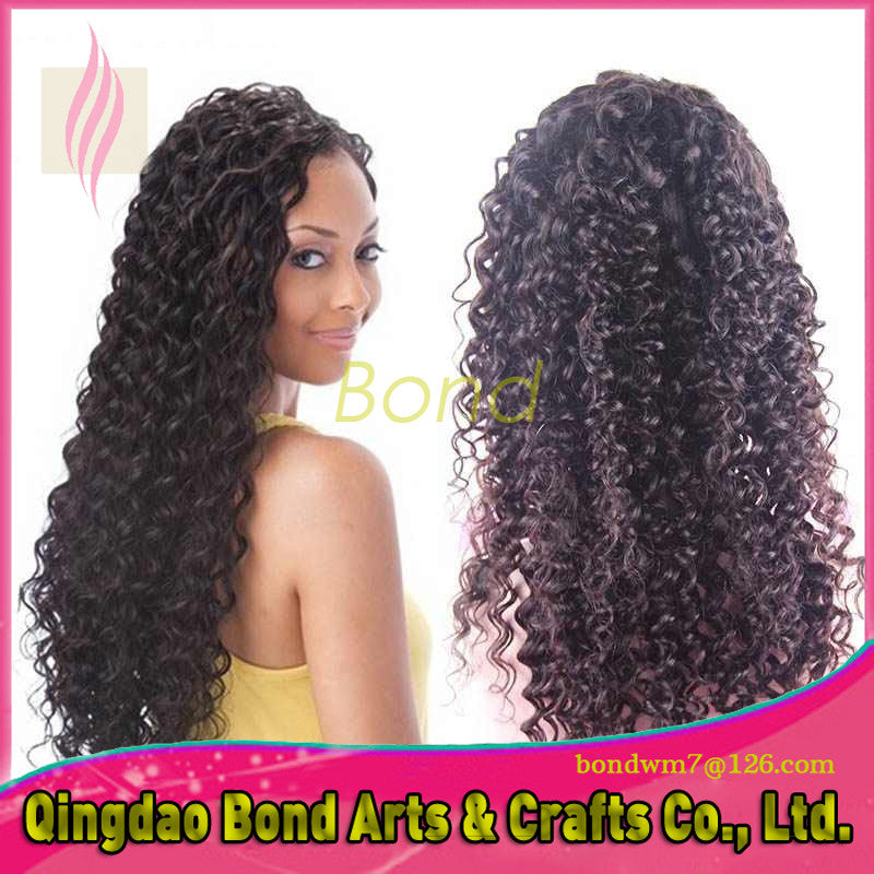 Brazilian Hair - 130 density brazilian human hair lace front wigs glueless full lace wigs deep curly best human hair wigs for black women - BONDWIGS