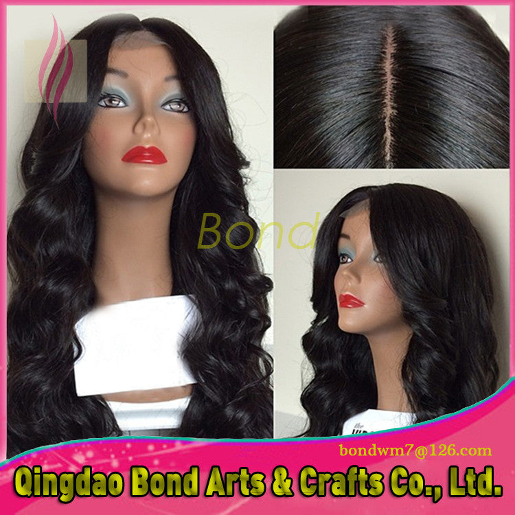 Brazilian Hair - 2015 New Hot Selling Brazilian Full Lace Human Hair Wigs Full Lace Front Wig Body Wave Virgin Hair for Black Women - BONDWIGS