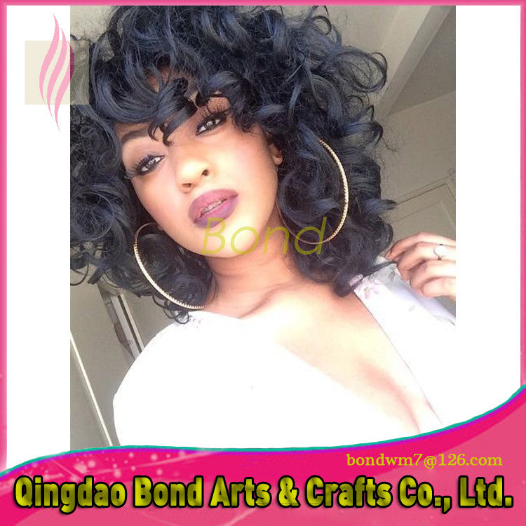 Full Lace Human Hair Wigs Virgin Hair Brazilian Curly Lace Front Wigs Natural Color Brazilian Virgin Hair GaGa wigs