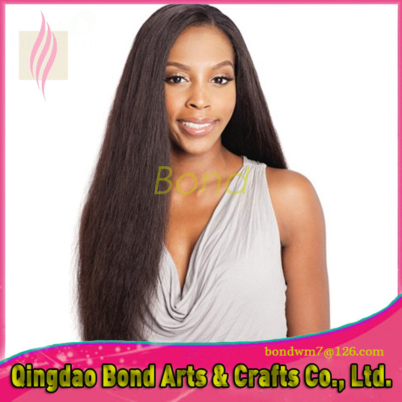 Brazilian Hair - NEW High Ponytail Virgin Brazilian Natural Straight Full Lace Wigs Glueless Long Straight Front Lace Wigs For Black Women - BONDWIGS