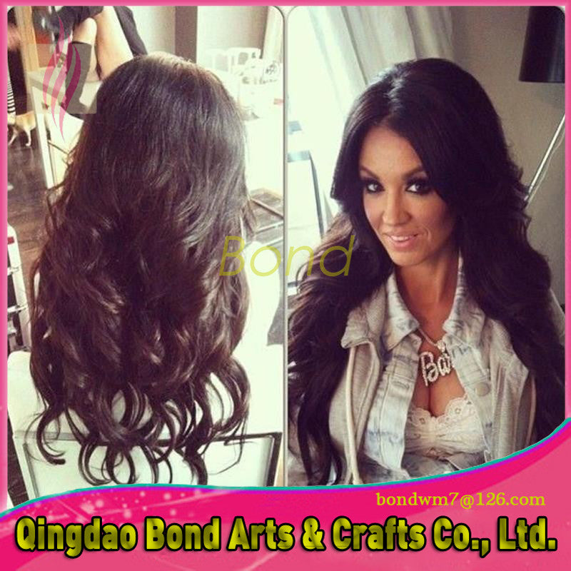 Indian Virgin Human Hair Full Lace Wig Human Hair Deep Wave Wig For Black Women Glueless Full Lace Wigs With Baby Hair