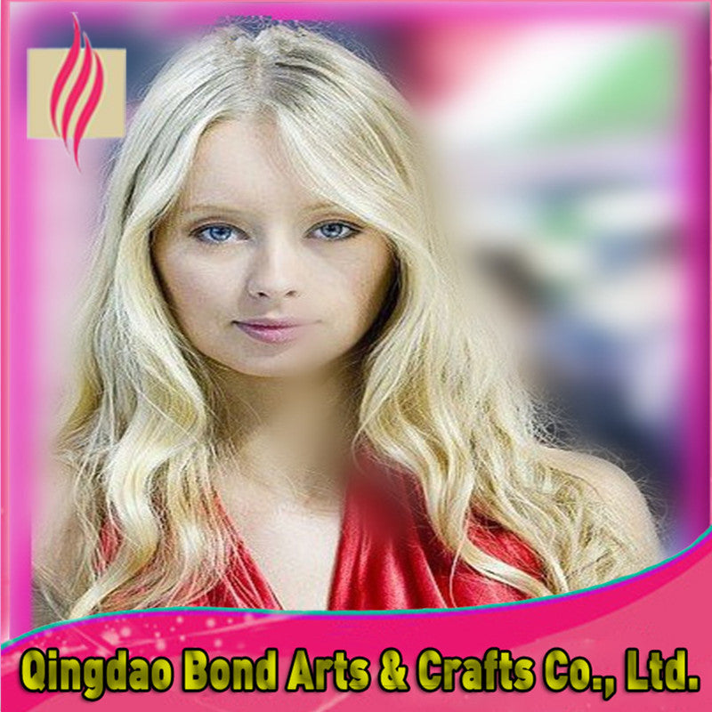 Peruvian Hair - Factory Price Peruvian Virgin Human Full Lace Wig For White Women Unprocessed Blonde Wig Color613 Free Shipping - BONDWIGS