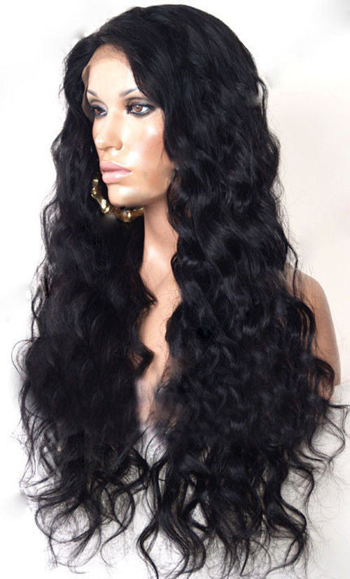 Peruvian Hair - New Style Peruvian Virgin Deepwave Glueless Full Lace Wig Natural Color Full Lace Human Hair Wigs For Black Women - BONDWIGS