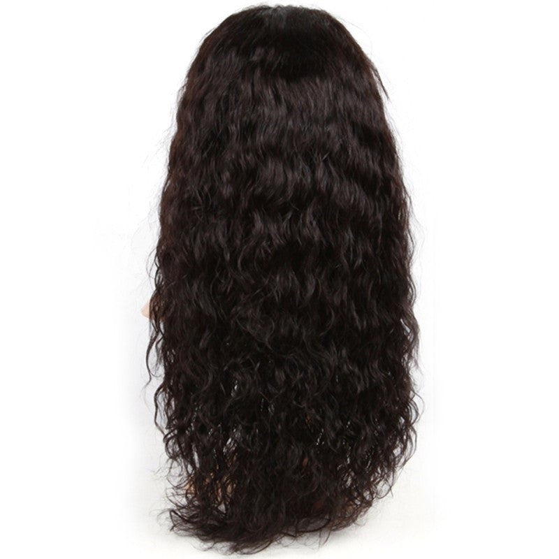 Brazilian Hair - Brazilian Virgin Hair Water Wave Lace Front Wigs Glueless Full Lace Wig Full Lace Human Hair Wigs For Black Women With Baby Hair - BONDWIGS