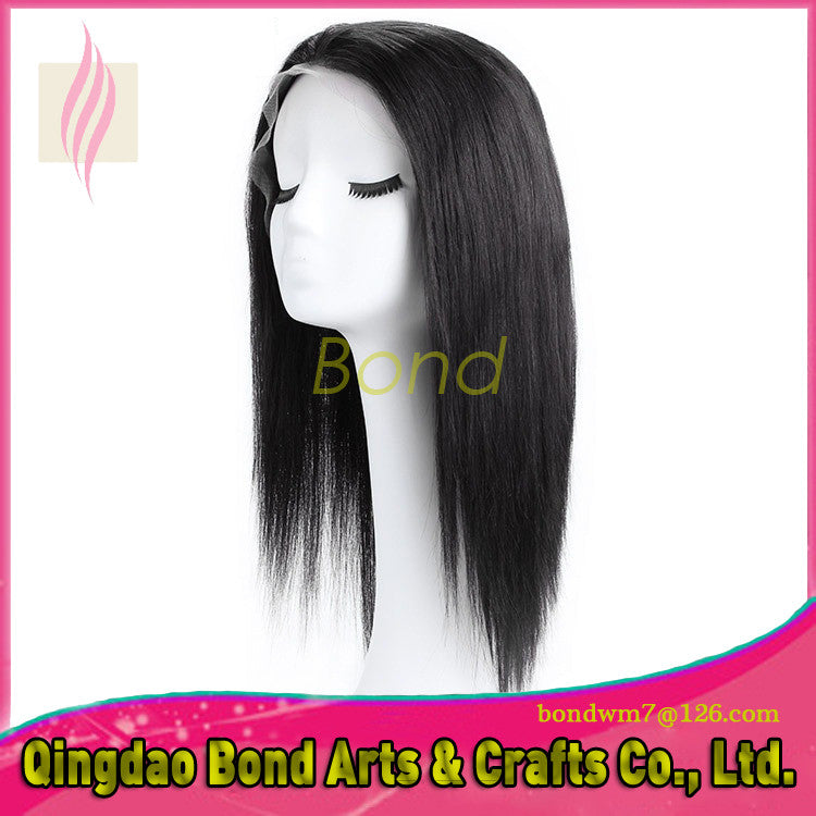 Brazilian Hair - Brazilian Virgin Hair Silky Straight Lace Front Wigs Glueless Straight Human Hair Wig For Black Women With Baby Hair Instock - BONDWIGS