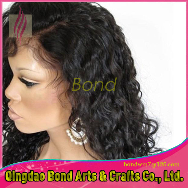 Brazilian Hair - 2015 Hot!!!Brazilian Virgin Body Wave Full Lace Wig Glueleas Lace Front Human Hair Wigs For Black Women Lace Wig Human Hair 7A - BONDWIGS