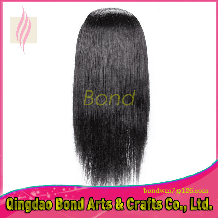 Chinese Hair - Silky Straight Unprocessed Chinese Hair Lace Front Wigs Virgin Human Hair Glueless Full Lace Wigs With Baby Hair For Black Women - BONDWIGS
