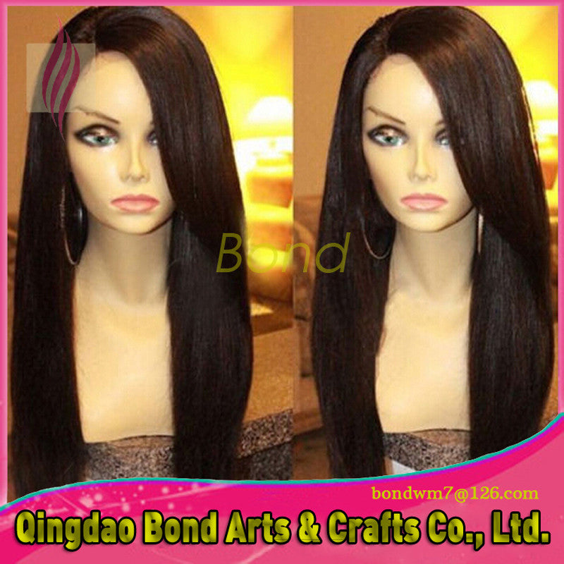 Brazilian Hair - Sexy Hair Natural Brazilian Full Lace Wigs Front Lace Wigs With Baby Hair Virgin Human Hair Wavy Wig Density 130% discount - BONDWIGS