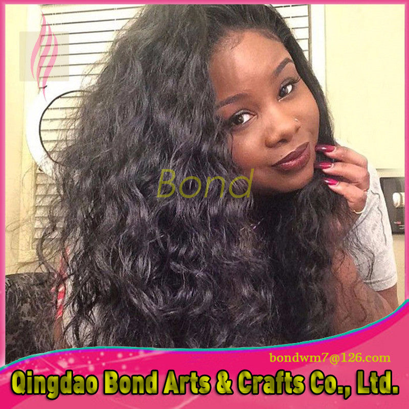 Brazilian Hair - Brazilian Full Lace Human Hair Wigs With Baby Hair Curly Full Lace Wigs Virgin Hair Gluless Lace Front Wig For Black Women - BONDWIGS