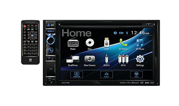"DUAL DV637MB 2-Din 6.2"" DVD/CD Bluetooth In-Dash Receiver"