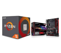 AMD Ryzen 5 1600 Processor with Wraith Spire Cooler and GIGABYTE GA-AB350-Gaming 3 AMD RYZEN AM4 B350 RGB Fusion Smart