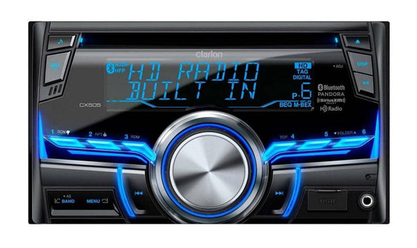 Clarion CX505 2-Din HD Radio/Bluetooth/CD/USB/MP3/WMA Receiver