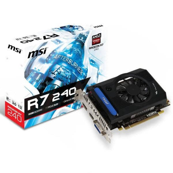MSI Radeon R7 240 R7 2GB Graphics Card