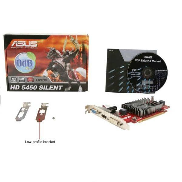 ASUS AMD Radeon HD 5450 1 GB Graphics Card EAH5450