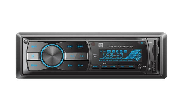 Dual XR4115 In-Dash MP3 WMA Mechless Digital Media Receiver