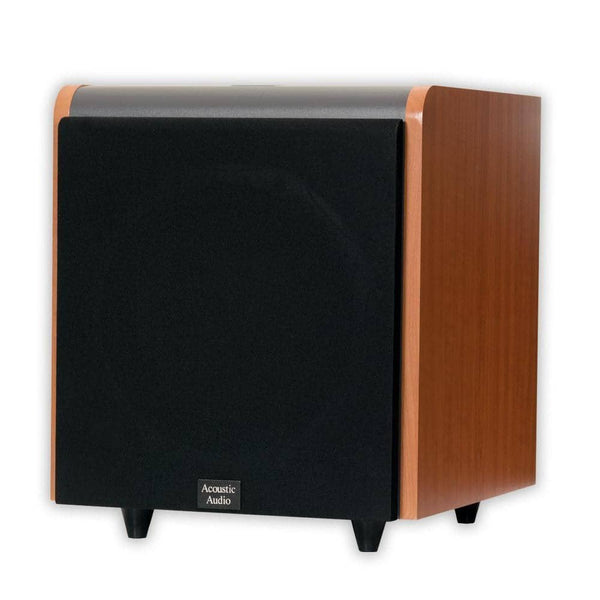 Acoustic Audio HD-SUB10-CHERRY 10-Inch HD Series Front Firing Subwoofer (Cherry)