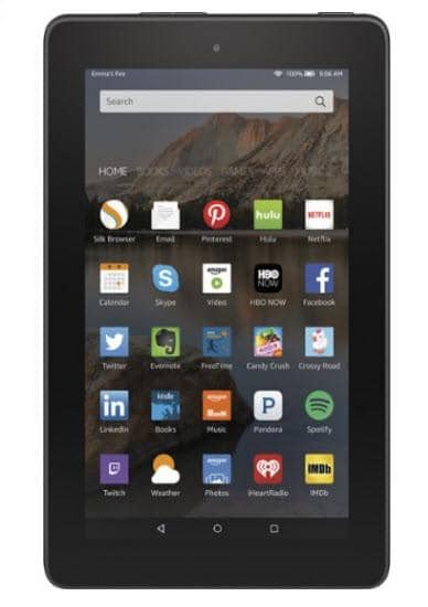 "Amazon - Fire 7"" Tablet 16GB - Black"