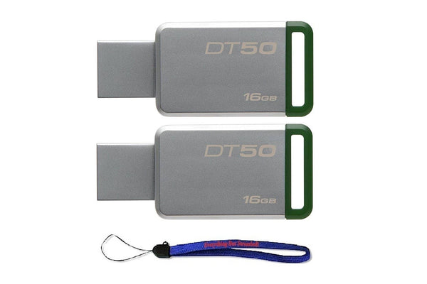 Kingston (TM) Digital 16GB (2 Pack) USB - Green