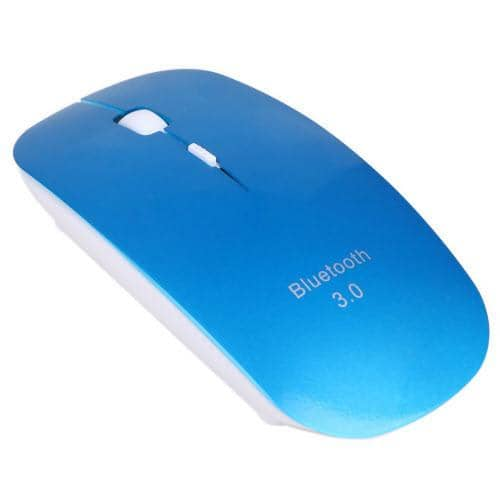 HDE Slim Bluetooth 3.0 Wireless Mouse Optical Ergonomic - Blue