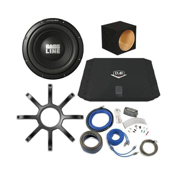 "Alpine Bassline 10"" Subwoofer Bass Package"