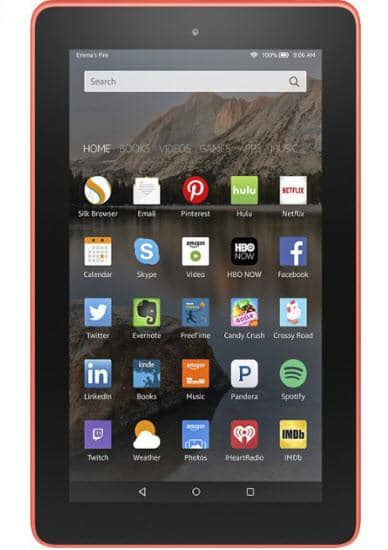 "Amazon - Fire HD8 - 8"" - Tablet - 32GB - Wi-Fi - Tangerine"