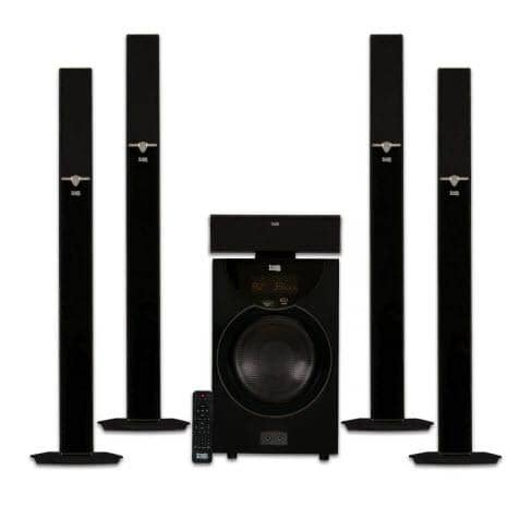 db6ad6cfa01057 Acoustic Audio AAT2003 Tower 5.1 Home Theater Bluetooth Speaker System with  8