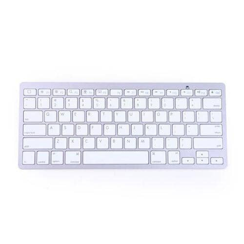 HDE Mini Aluminum Bluetooth 3.0 Wireless Multimedia Keyboard - Silver