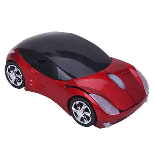 HDE Sports Car Shape Wirless Optical Mouse - California Red
