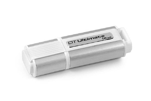 Kingston Digital 16 GB Hi-speed 3.0 Datatraveler Flash Drive DTU30/16 GB - White and Gray