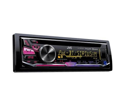 JVC Arsenal KD-R975BTS Single DIN CD Car Stereo Receiver with Bluetooth, Satellite Radio and Dual USB Inputs