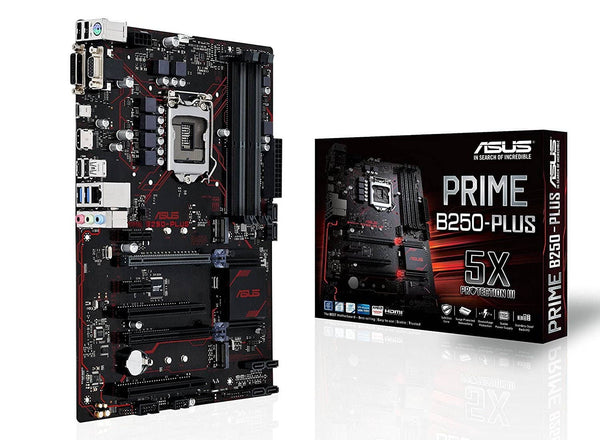 ASUS PRIME B250-PLUS LGA1151 DDR4 HDMI DVI VGA M.2 B250 ATX Motherboard with USB 3.1