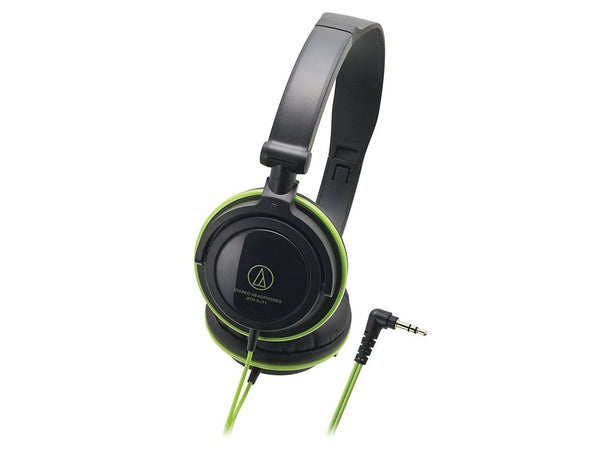 Audio Technica ATH-SJ11 Audio Headphones - Black/Green