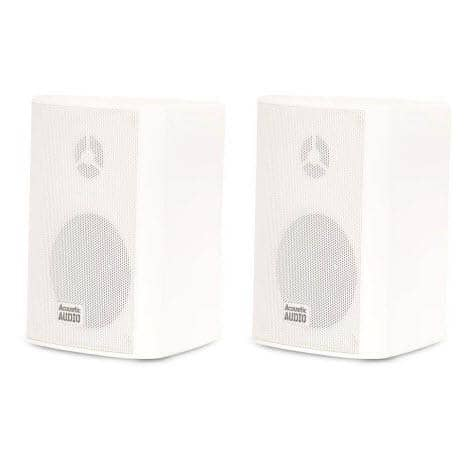 Acoustic Audio AA351W Indoor/Outdoor Speakers, White, Set of 2