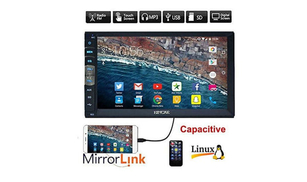 EinCar 7 inch Double Din Car Stereo MP5 Player