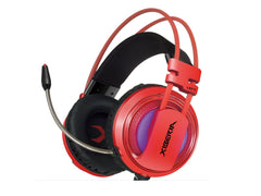 XIBERIA V10 USB Surround Sound Gaming Headset -Red