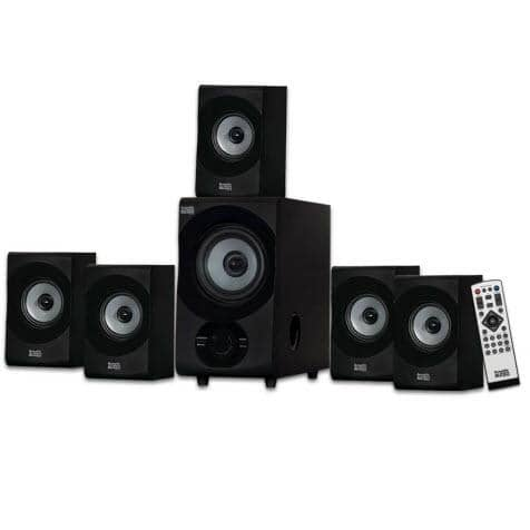 Acoustic Audio AA5172 Home Theater 5.1 Bluetooth Speaker System with USB/SD
