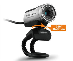 Ausdom Web Camera Full HD 1080P Webcam with Microphone