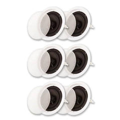 "Acoustic Audio SP8c in Ceiling 8"" Speaker 3 Pair Pack 2 Way Home Theater 1800 Watt SP8c-3PR"