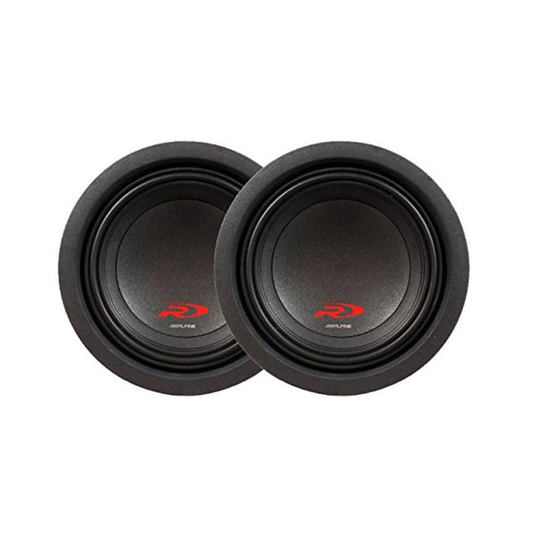 "Alpine SWR-8D4 Ohm 8"" Subwoofer Bundle"