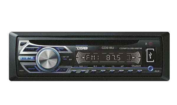DS18 CDS18 U Detachable Faceplate Radio with USB, CD, MP3, and AM/FM Receiver