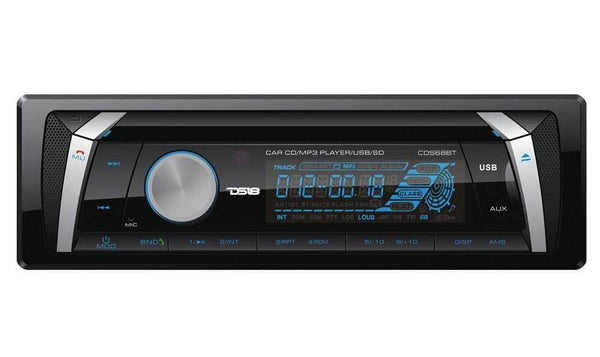DS18 CDS68BT Single Din In-Dash Detachable Face Car Radio Receiver