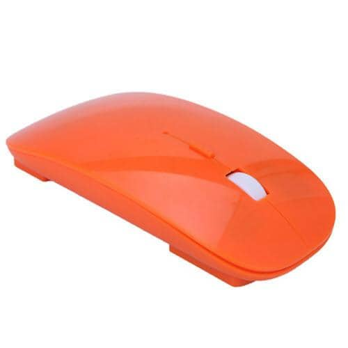 HDE Ultra-Thin Wireless Mouse 2.4GHZ -  Orange